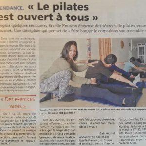 Studio Pilates Langon article journal républicain
