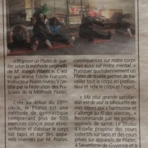 article republicain estelle franzon pilates gironde